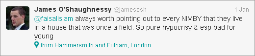 James O'Shaughnessy tweet about hypocrisy