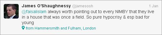 James O'Shaughnessy tweet about hypocrisy